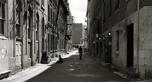 Street in sunshine by Jocelyne Choquette