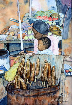 Street Markets - Selling Roasted Millies by Ursula Reeb
