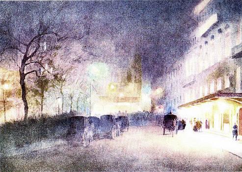 Street Scene At Dusk by Pat Mchale