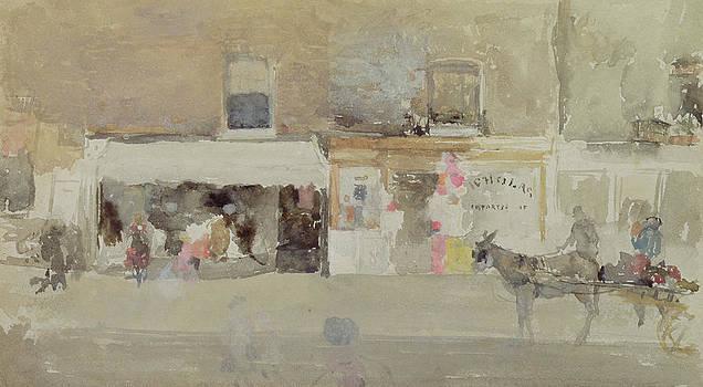James Abbott McNeill Whistler - Street Scene in Chelsea