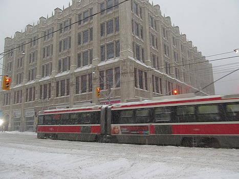 Alfred Ng - streetcar in snow storm
