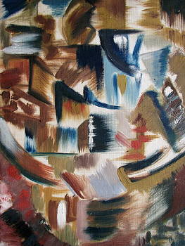 Strokes In Cubism by Raahi Raza