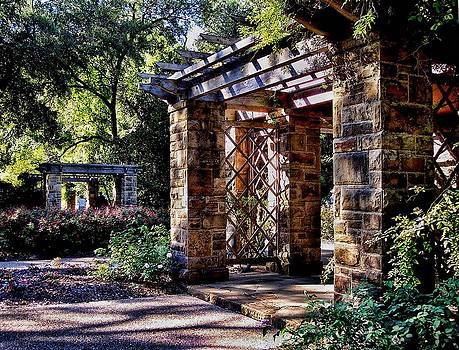 Structures in Ft Worth Botanic Gardens by Janet Maloy