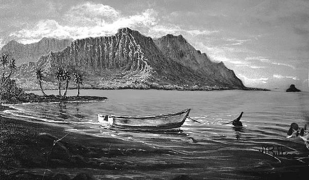 Study- Kaneohe Bay Early Morn 1 by Joseph   Ruff