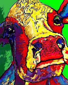 Study of a Cow by Pamela Shelton