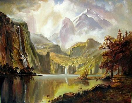 Study of Albert Bierstadt's American Landscape by Arion Khedhiry