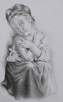 Study of Bouguereau's La Frileuse  by Lisa Marie Szkolnik