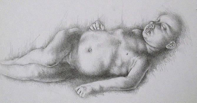 Study of Caravaggio's Cupid by Lisa Marie Szkolnik