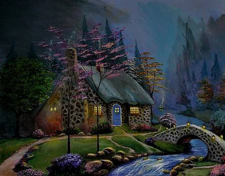 Study of Kinkade Style Of Painting by Stefon Marc Brown