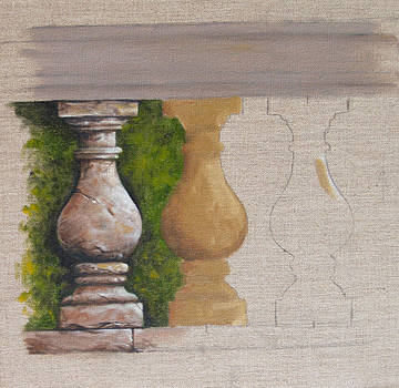 Study of Stonework by Richard Mountford