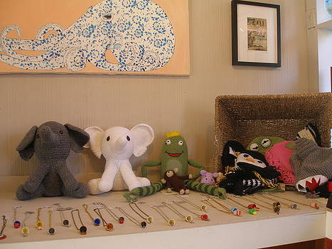 Stuffed Animals by Amy King Painter