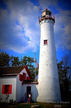 Sturgeon Point Lighthouse Michigan by Terri K Designs