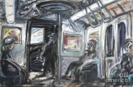 Subway Car Interior by Arthur Robins