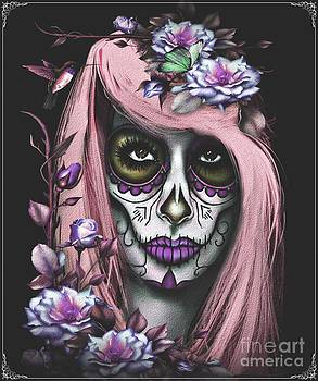 Sugar Skull Jess Pink by Debbie Engel
