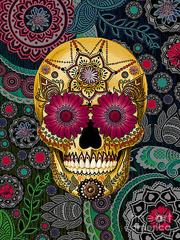 Sugar Skull Paisley Garden - Copyrighted by Christopher Beikmann