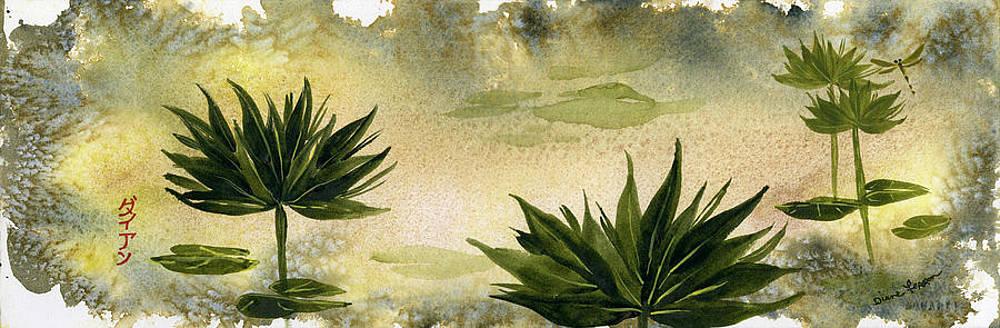 Sumi-E Water Lilies by Diane Ferron