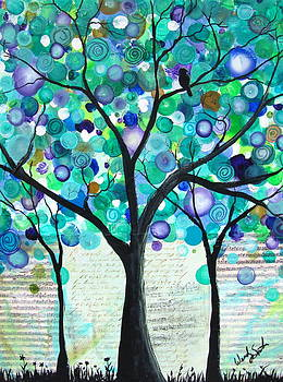 Summer Green bubble tree by Wendy Smith