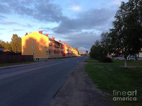 Summer night golden lights by  Andrzej Goszcz