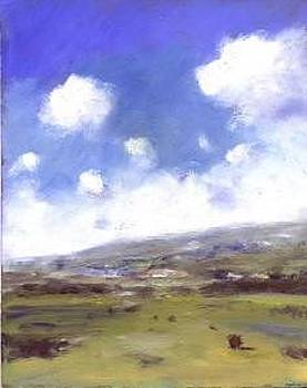 Summer sky over Brading Down by Alan Daysh