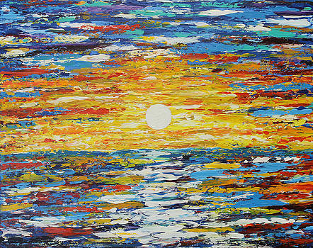 Sun Explosion Over the Ocean by Molly Roberts