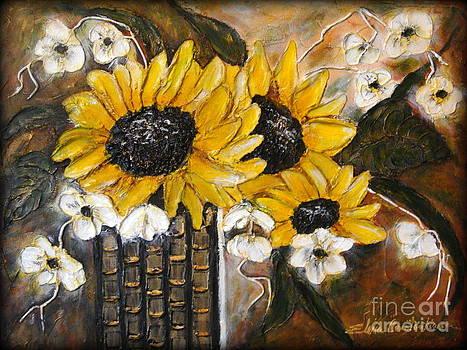 Sun flowers by Elena  Constantinescu