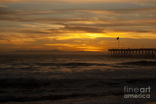 Ian Donley - Sun Setting Behind Santa Cruz With Ventura Pier 01-10-2010