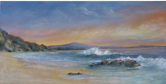 Sun-up at Shelley Beach by Rita Palm