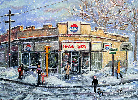 Sunday Morning at Renie's Spa by Rita Brown