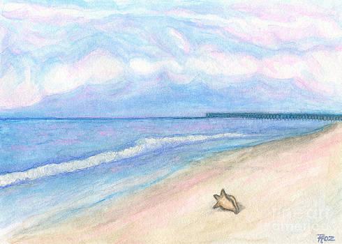 Sunday Morning on Flagler Beach by Roz Abellera Art