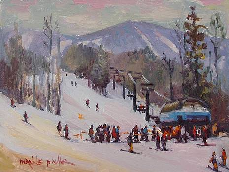 Sunday Skiing by Dianne Panarelli Miller