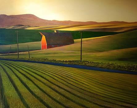Sundown near Genesee by Leonard Heid