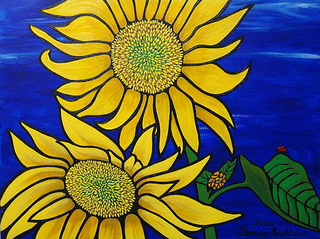 Sunflower And Lady Bug by Dennis Nadeau
