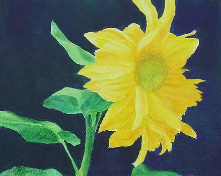 Sunflower Ballet Original Colorful Art by K Joann Russell