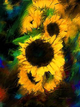 Sunflower in Motion by Don Steve