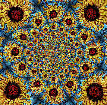 Genevieve Esson - Sunflower Kaleidoscope Mandela