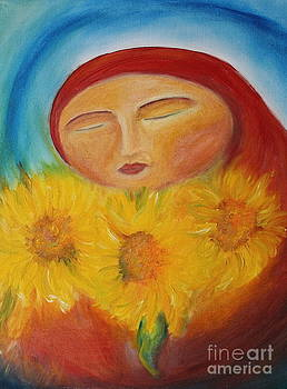 Sunflower Madonna by Teresa Hutto