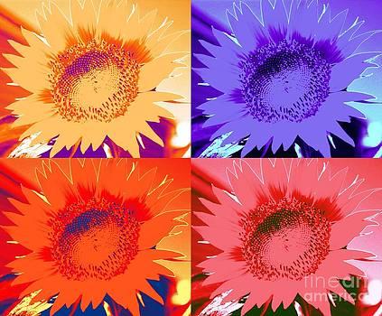 Sunflower Pop Art by Judy Palkimas