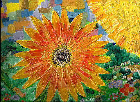 Sunflower Texture by Faye Giblin