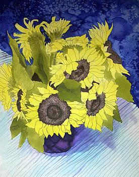 Sunflower Vase by Sara Bell