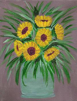Sunflowers in Vase by Faye Giblin