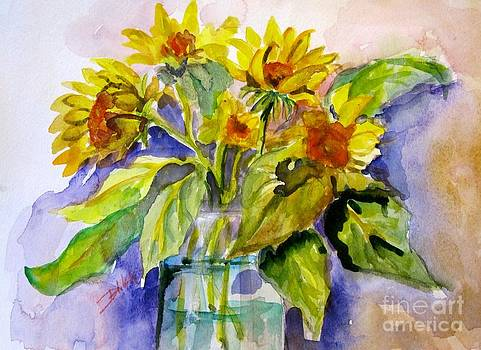 Sunflowers in Water by Delilah  Smith