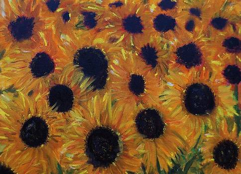 Sunflowers Too by Cindy Lawson-Kester