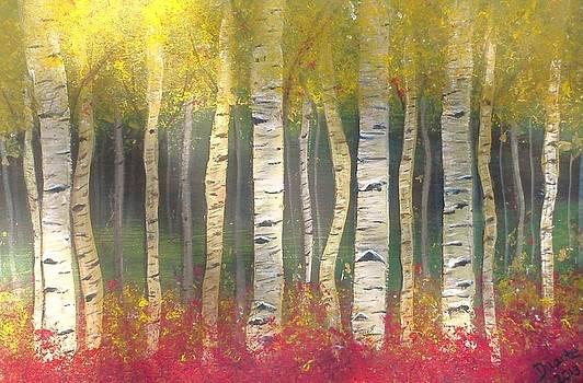 Sunlight on Aspens by Carol Duarte