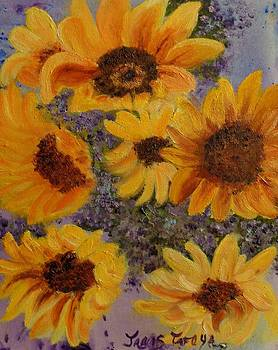 Sunny and Bright Sunflowers by Janis  Tafoya