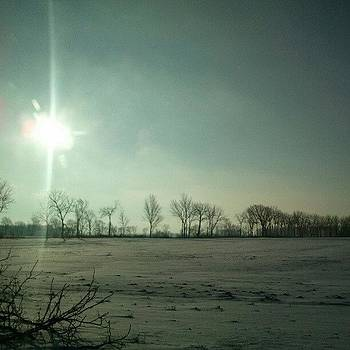 Sunny But Cold Sunday #hoosierskies by Sandy MacGowan