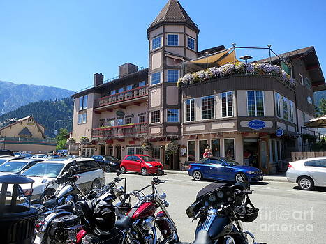 Sunny Day in Leavenworth Washington State by Tanya  Searcy