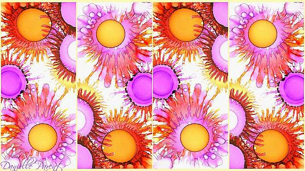 Sunny Happy Abstract Alcohol Inks by Danielle  Parent