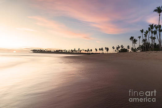 Sunrise along a coastline in Punta Cana Dominican Republic by Brandon Alms
