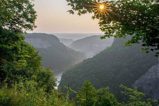 Sunrise at Big Bend Overlook by Guy Whiteley