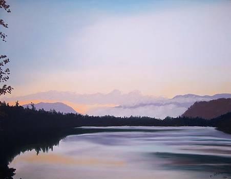 Sunrise at Mirror lake by Dan Haley